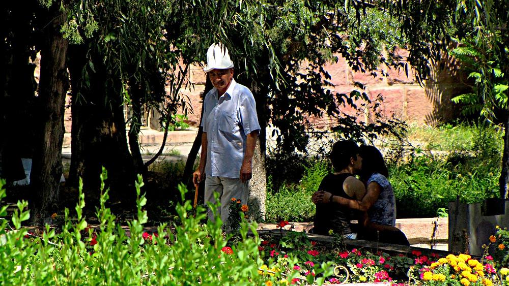 A park in Bishkek, Krygyzstan