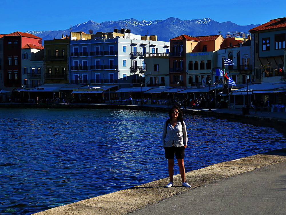 Venetian harbour, Chania, north west Crete