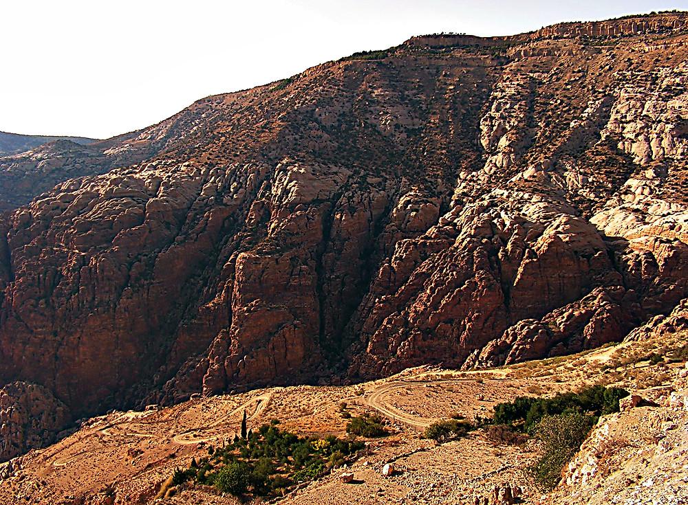 'Wadi' - deep rift valley - in Dana National Park, Jordan