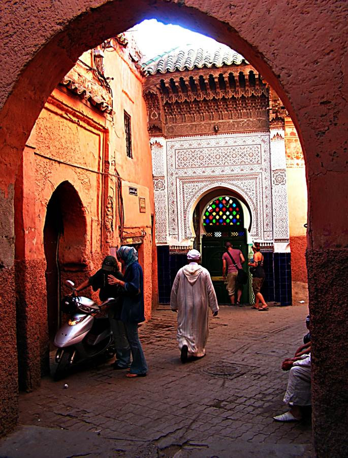 Arched doorway, central Marrakesh