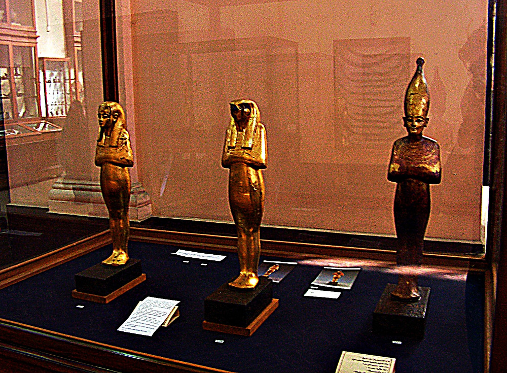 Exhibits at the Egyptian Museum, Cairo, Egypt