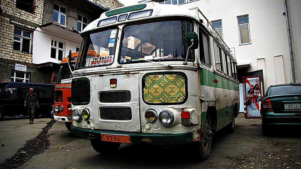 Bus, Nagorno-Karabakh, Armenia