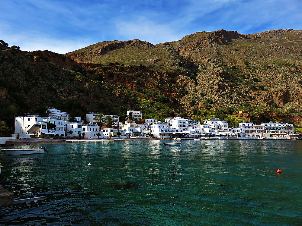 Loutro, unconnected by roads, south west Crete