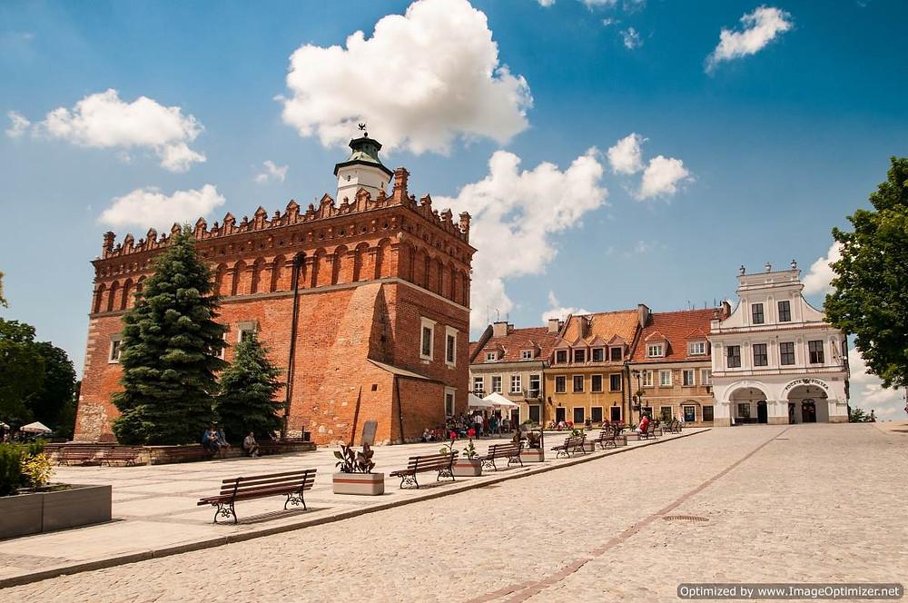 Sandomierz rynek and town hall