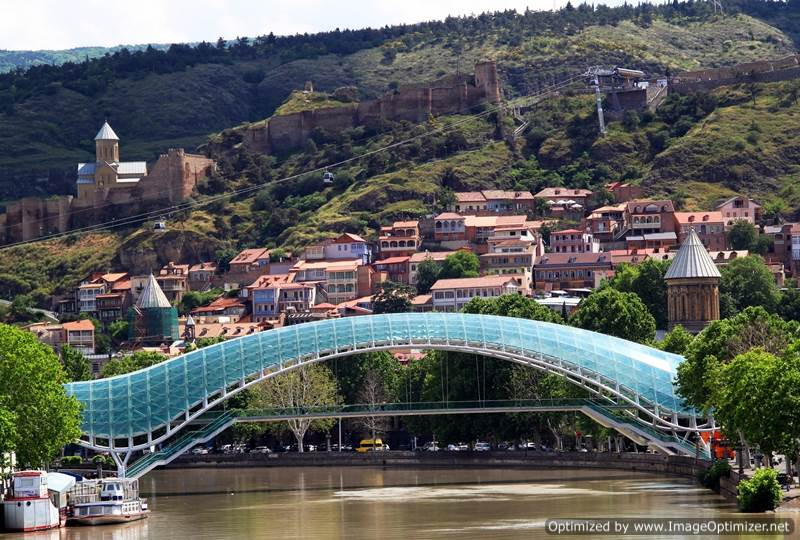 Peace Bridge, Narikala Fortress, Tbilisi