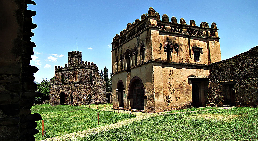 Gondar castle ruins, central Ethiopia
