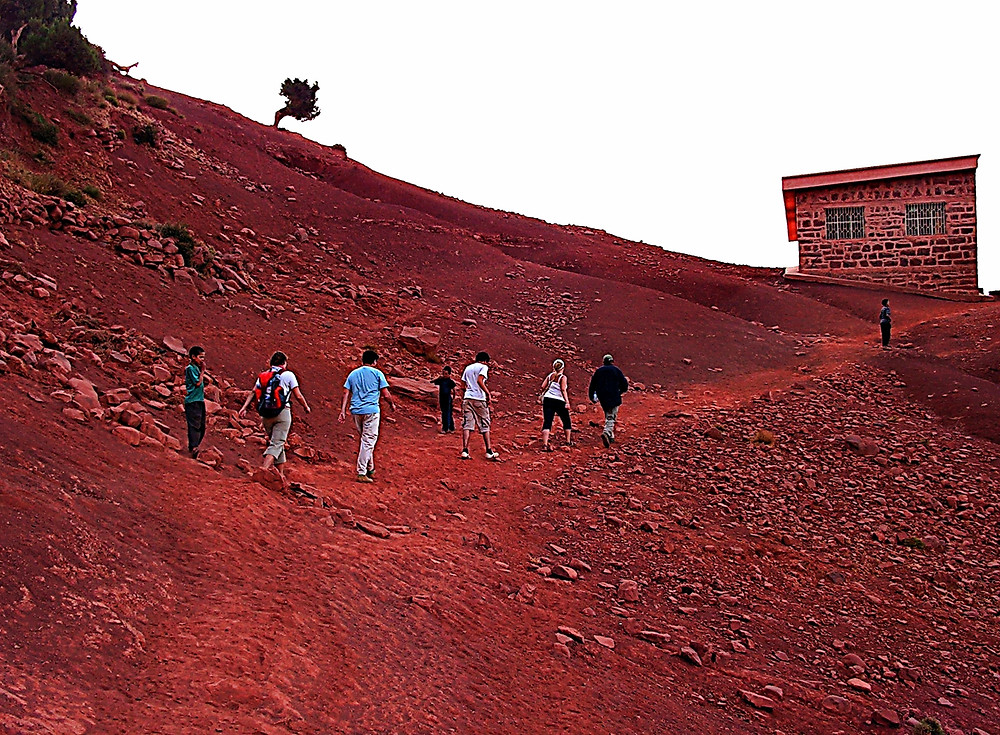 Typical red clay landscape in the Atlas