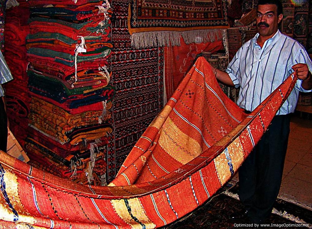 Fes carpet shop, Morocco