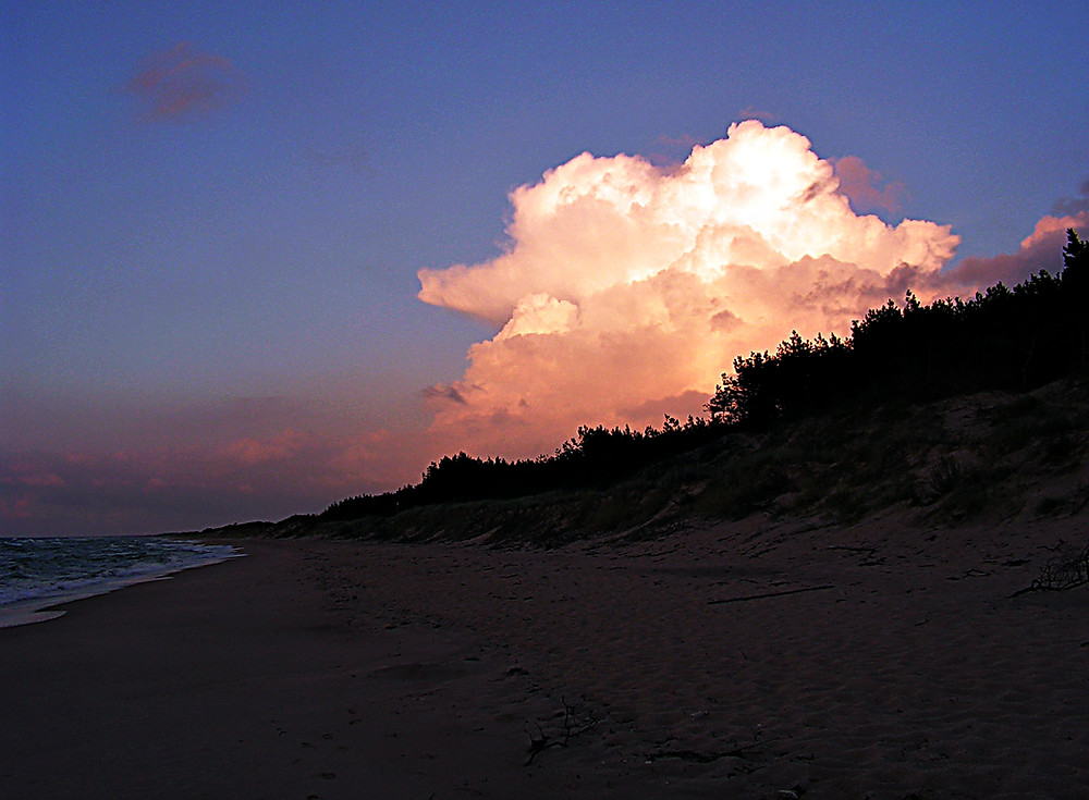 Sand dunes near Ustka, Baltic Sea, Poland
