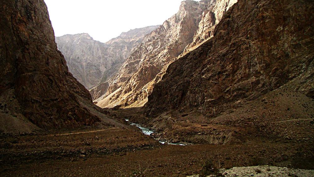 Mountains outside Khorog, Tajikistan