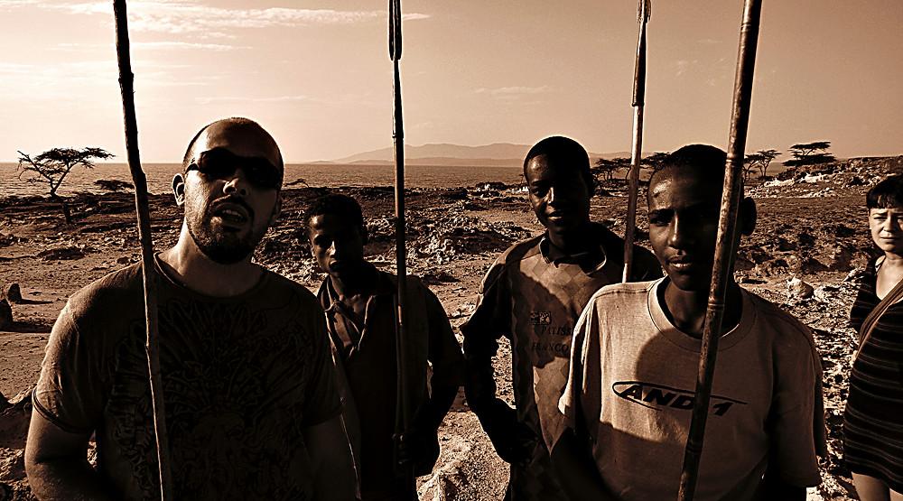 Local guides, Lake Langano, Ethiopia