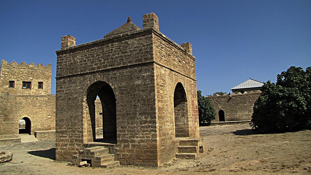 Atshegar Fire Temple - monument to Zorastrianism, Baku, Azerbaijan