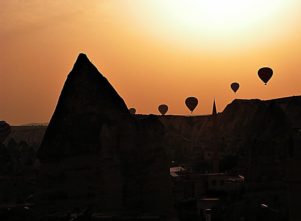 Cappadocia - hot air balloons at dawn