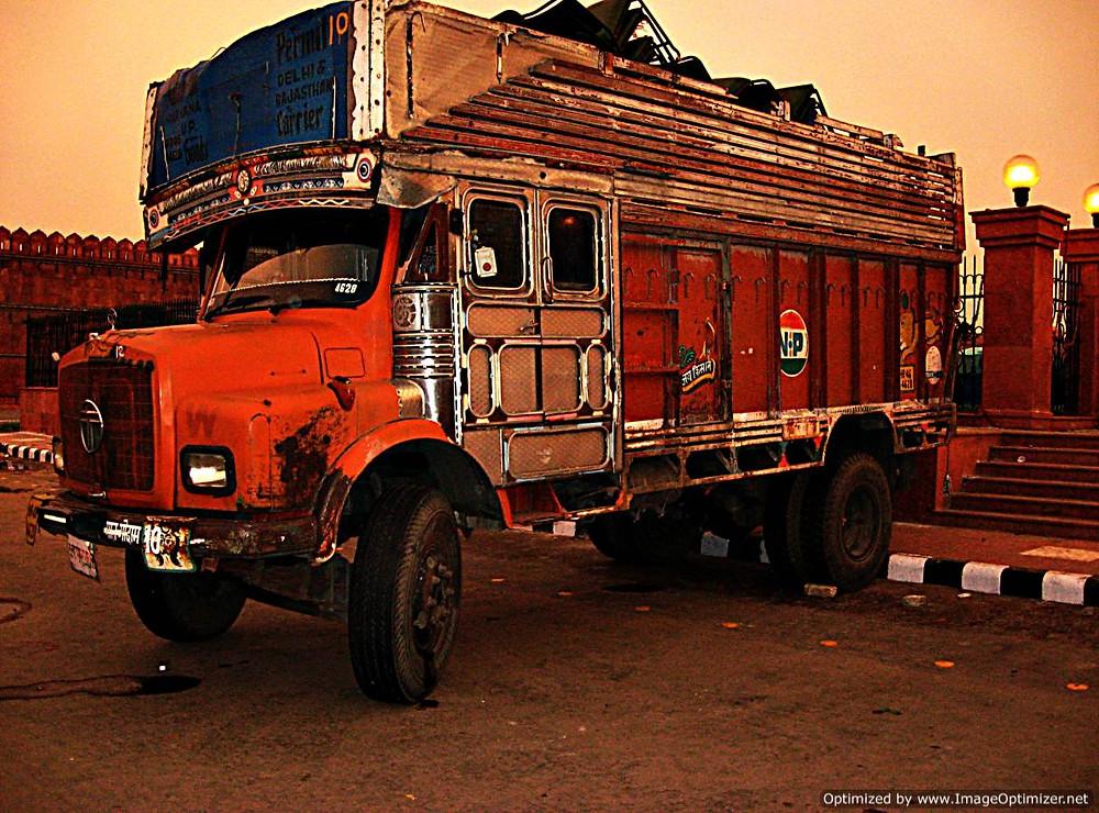 Typical truck transport, Delhi, India