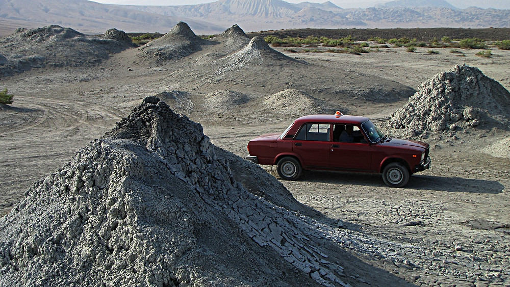 Qobustan mud volcanos, Baku, Azerbaijan