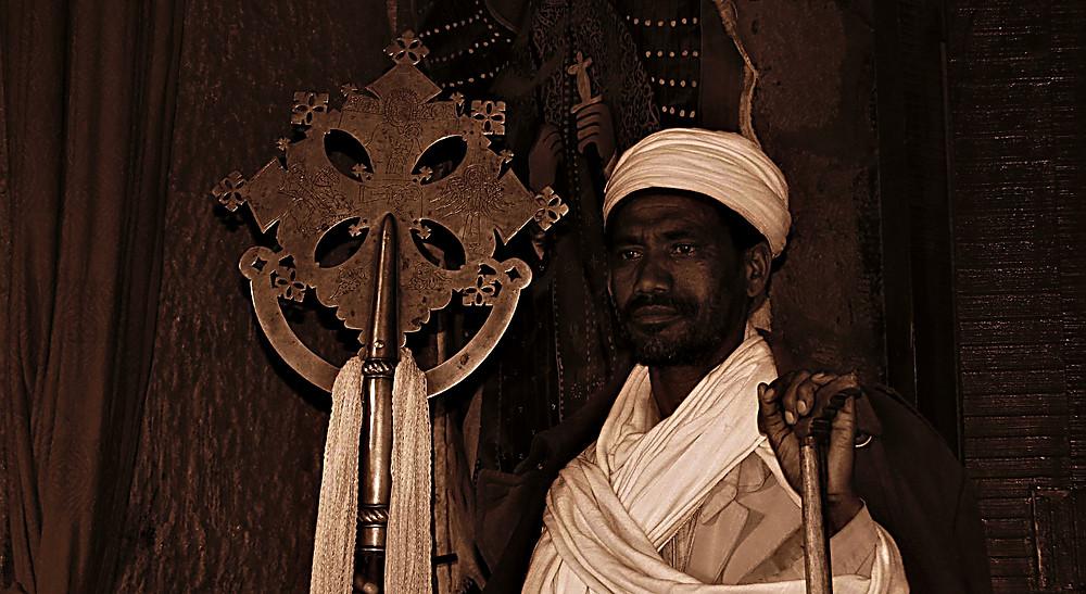 Priest, Lalibela, Ethiopia