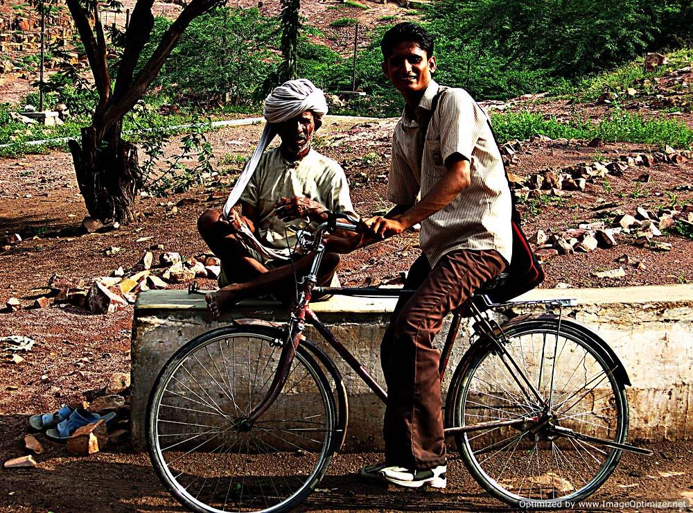 Cyclist, Pahar Ganj, Delhi, India