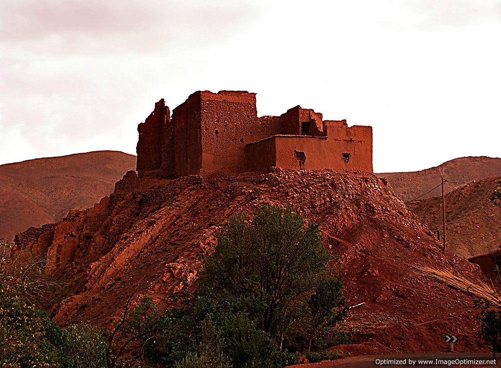Abandoned kasbah, near Ourzazate, Morocco
