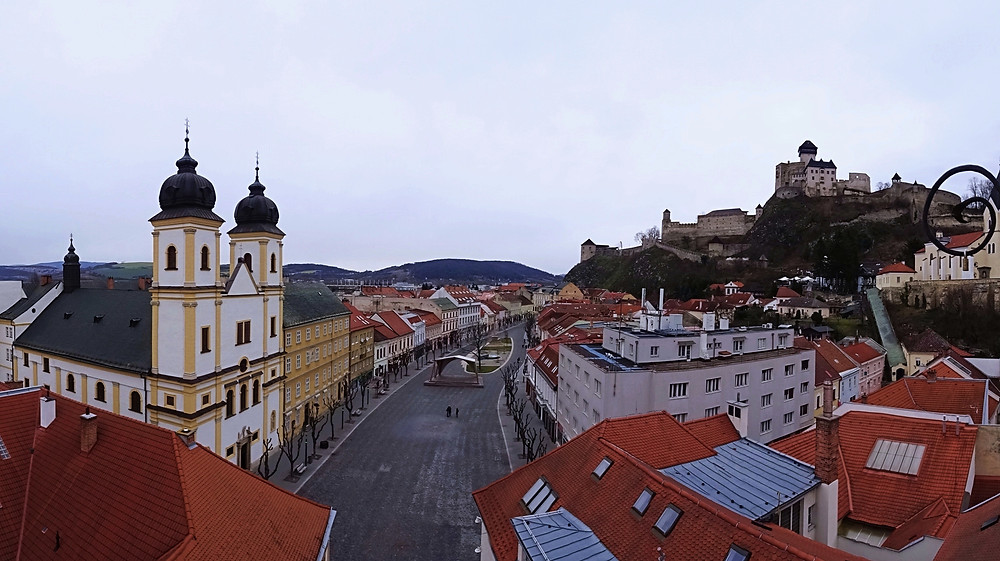 Mierové Nam - the main street of Trencin