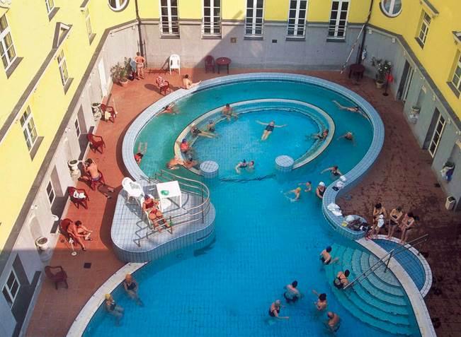 Lukacs baths, Budapest - exterior