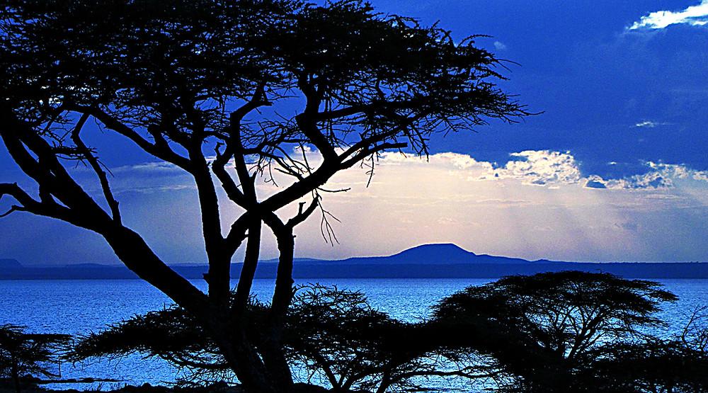 Sun setting on Lake Langano, Ethiopia