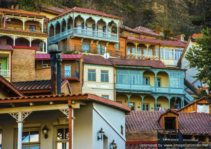 Traditional houses, Tbilisi