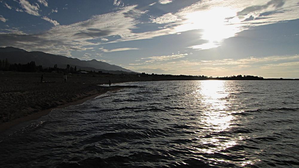 South shore of Lake Issykkul, Kyrgyzstan
