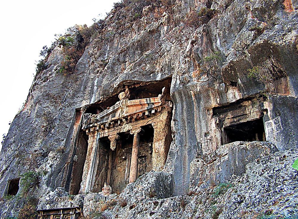 Lycian tombs above Fethiye, Turkey