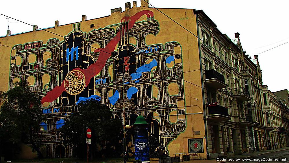 Street art, Lodz, Poland