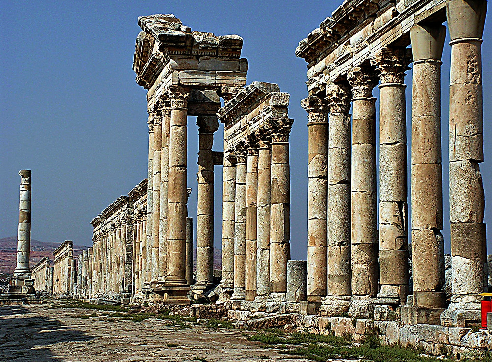 Agora, Apamya Roman ruins, Syria