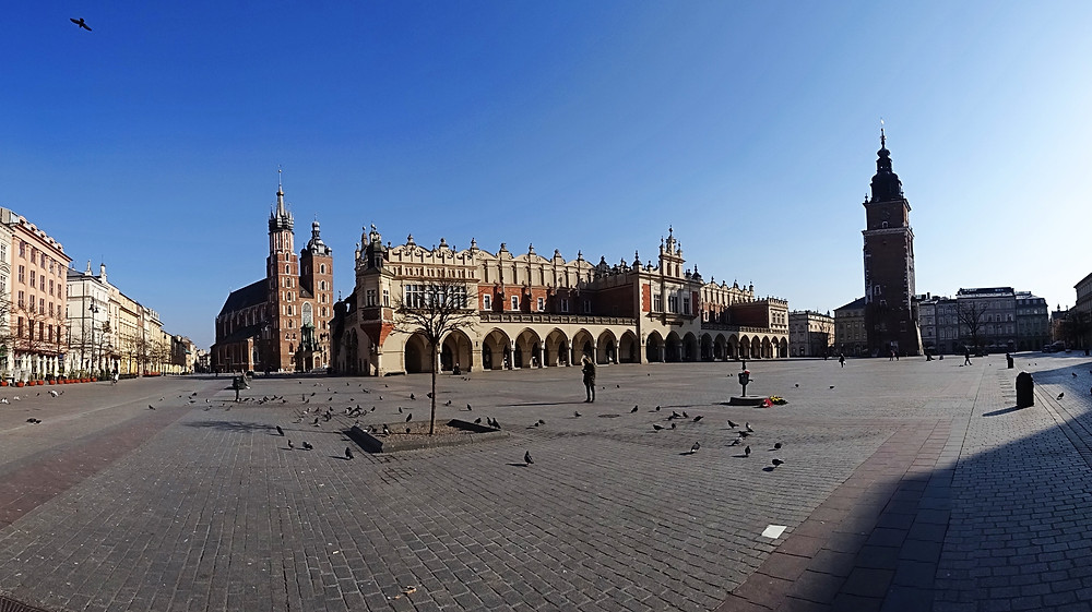Krakow during time of Corona - Market Square