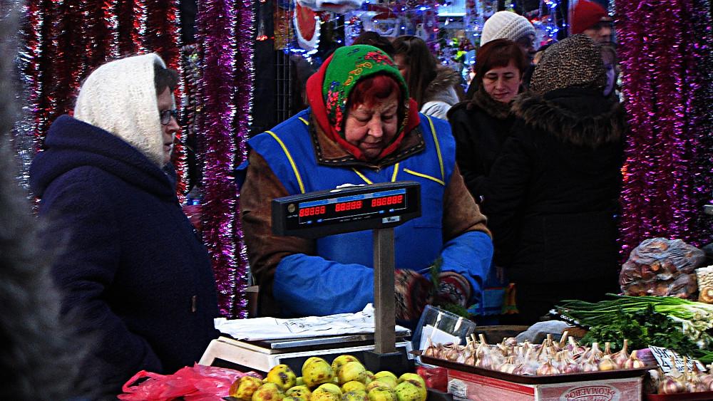 Open-air market in Minsk, Belarus