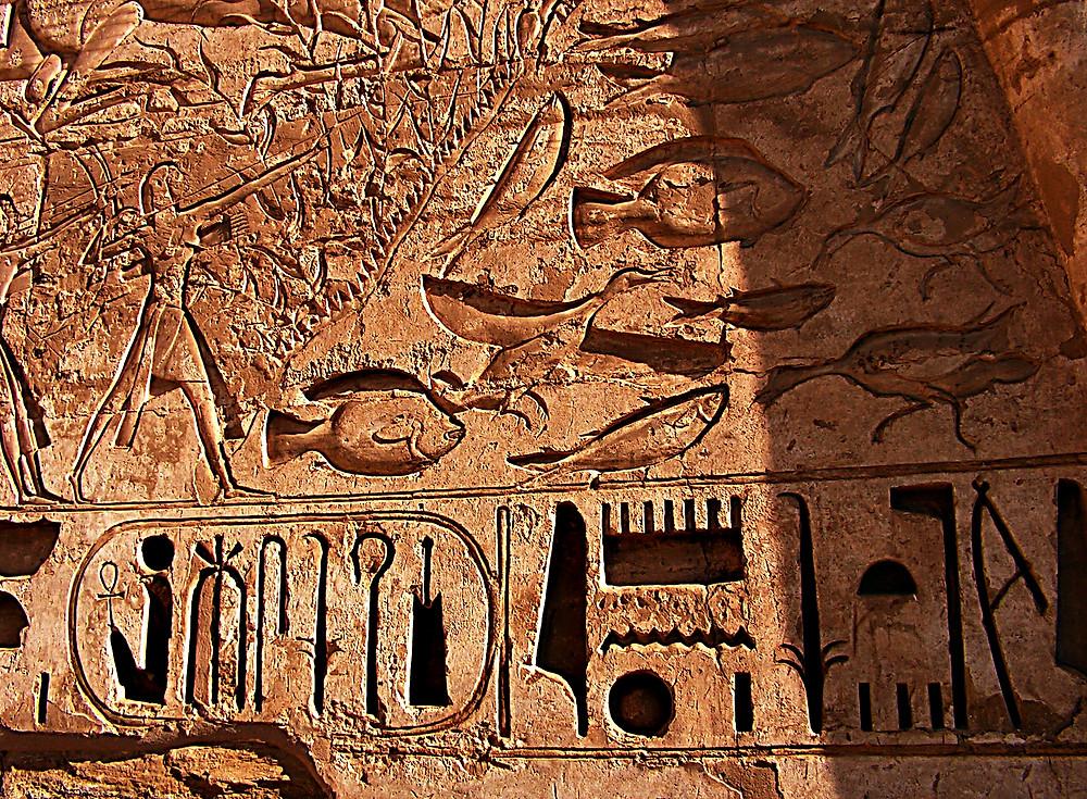 Hieroglyphics, Karnak, Luxor, Egypt