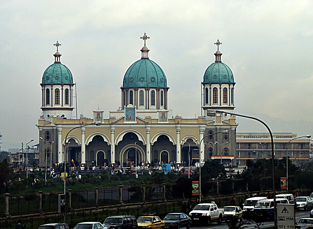 The Orthodox Tevahedo Church, Addis Ababa, Ethiopia