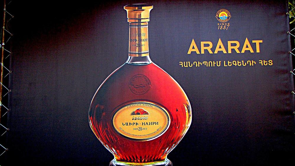 Ararat brandy advert, Yerevan, Armenia