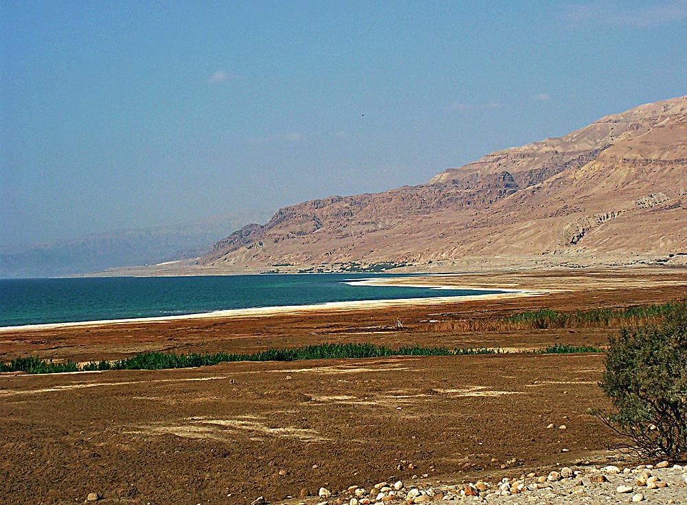 Eastern shore of the Dead Sea, Jordan