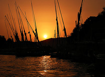 Felukah boats, Aswan, Egypt