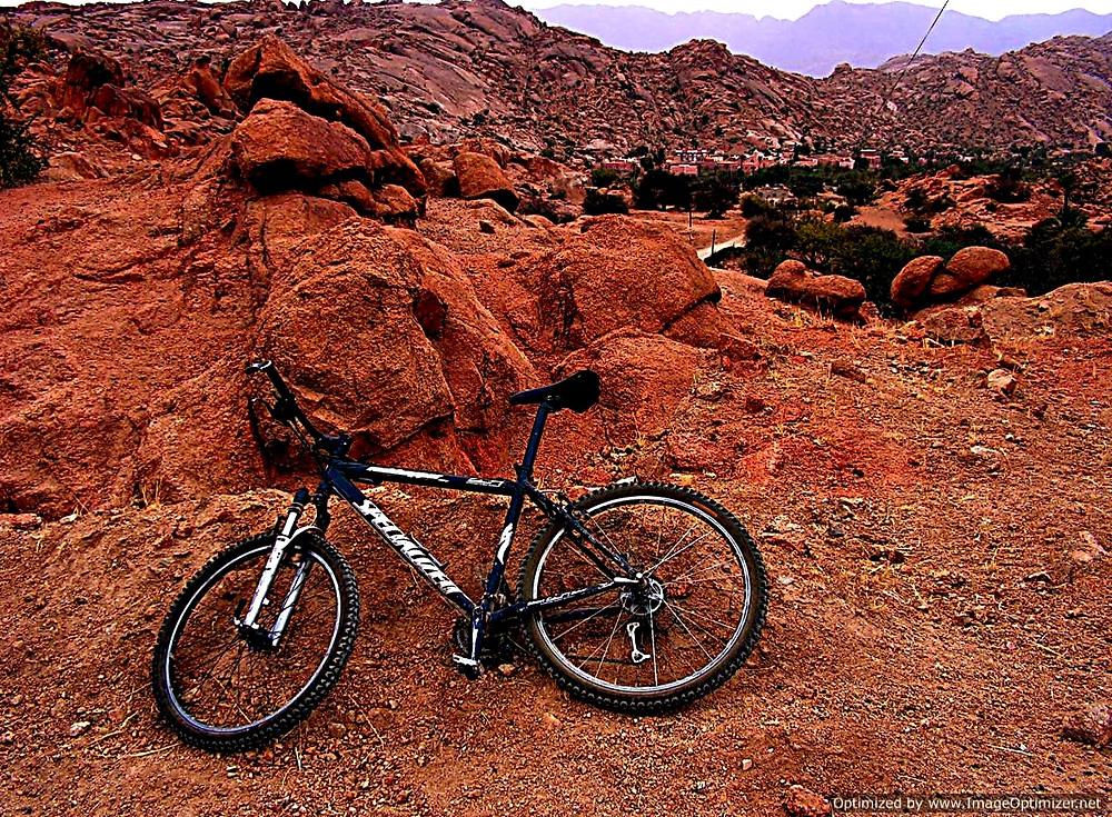 Rocky scenery near Tafraoute, Anti-Atlas, Morocco