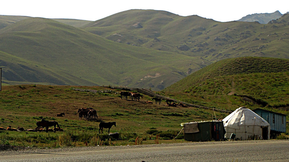 Countryside outside Bishkek, Kyrgyzstan