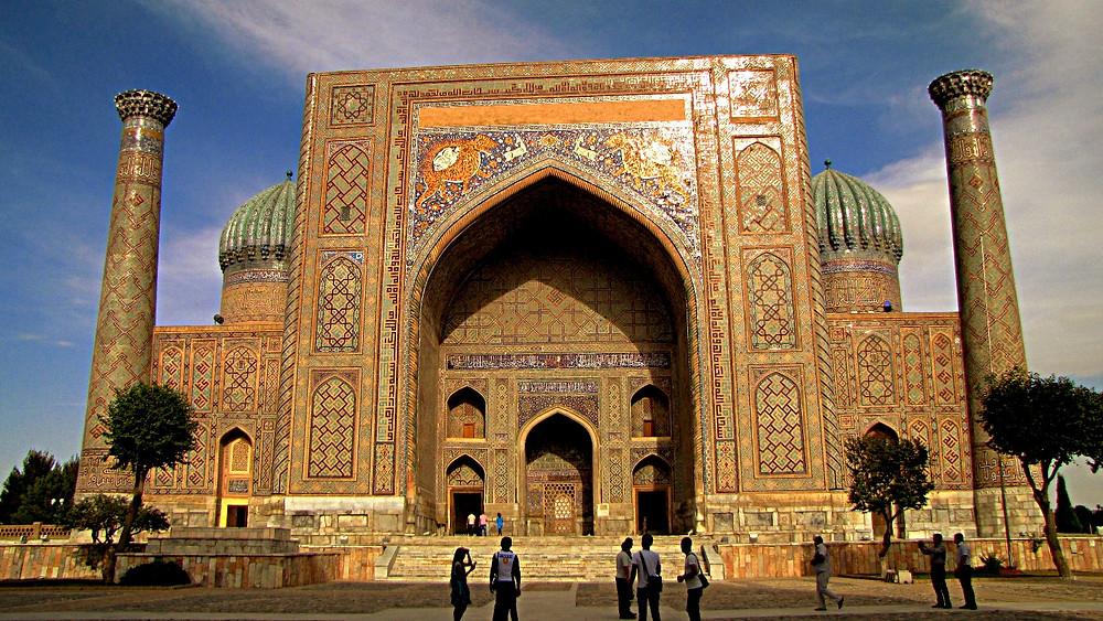 Entrance to Registan, Samarkand, Uzbekistan