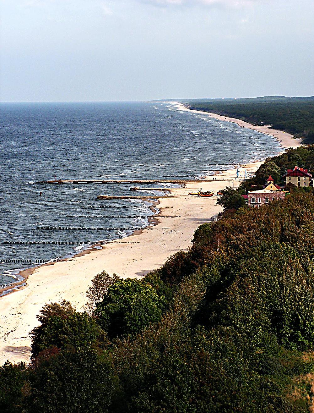 Beautiful Baltic beach, North-west Polish coast, near Międzyzdroje