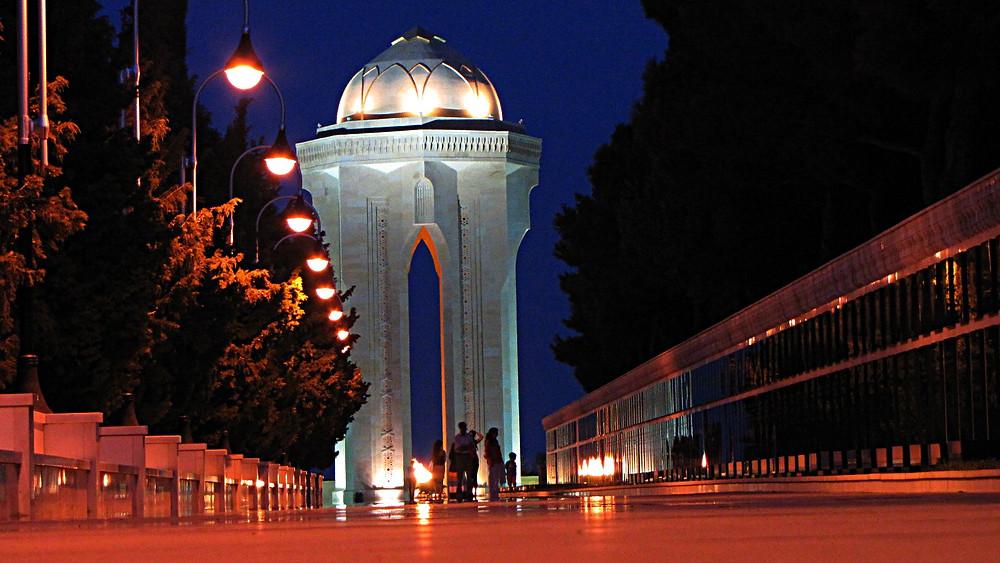 War memorial, Martyr's Lane, Baku, Azerbaijan