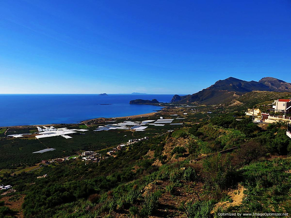 View over Falasarna Bay, western Crete