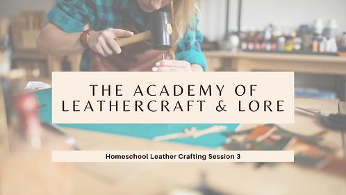 Make a Leather Purse: Homeschool Session