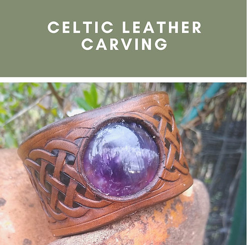 Celtic Leather Carving