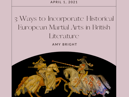 3 Ways to Add Historical European Martial Arts to Your British Literature Class