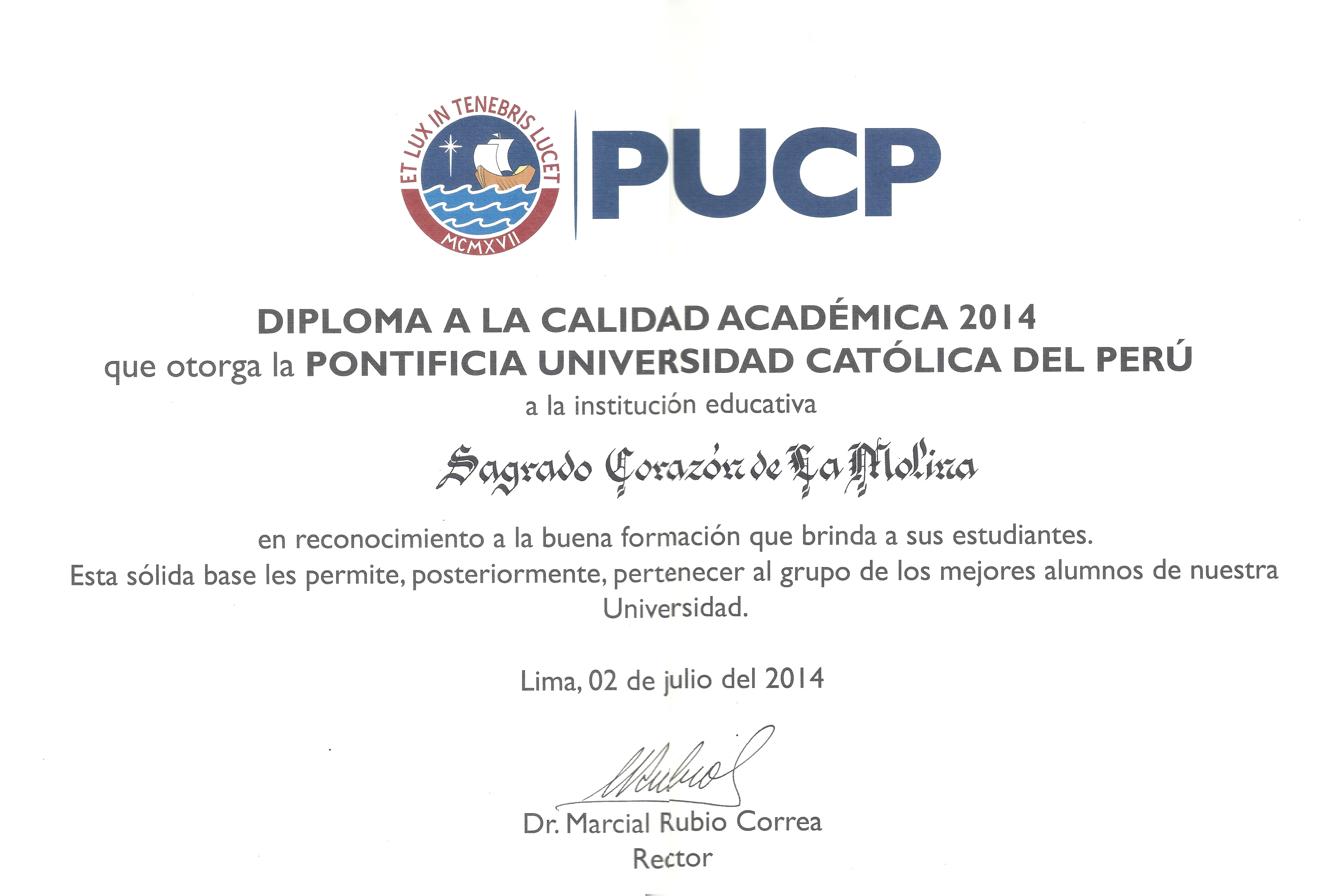 PUCP 2014