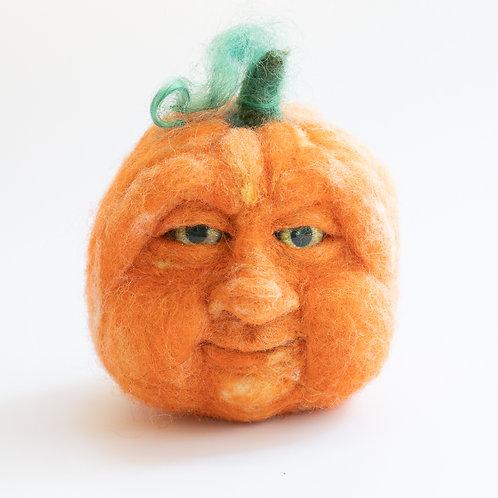 Felt Pumpkin, Jack O Lantern, Halloween Decor