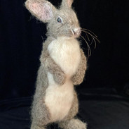 I don't remember a standing rabbit ever