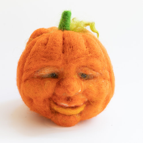 Felt Pumpkin, Jack O Lantern, Halloween Decor
